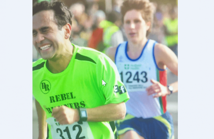 Rehman at the Half Marathon