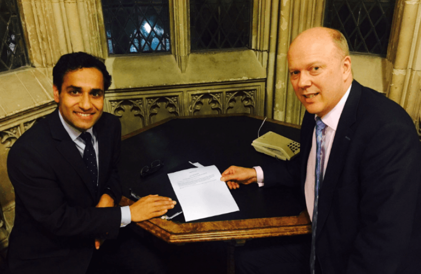 Rehman and Chris Grayling, the Transport Secretary