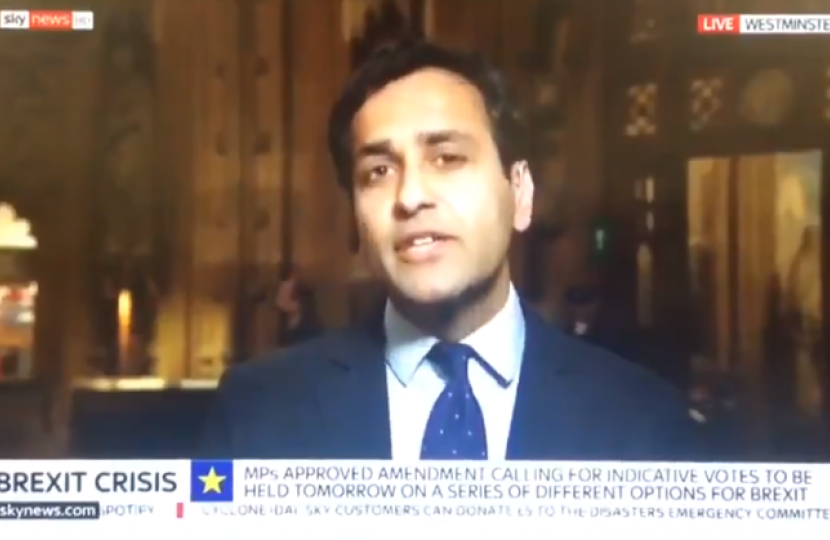 Rehman interviewed on Sky News on EU Withdrawal Agreement