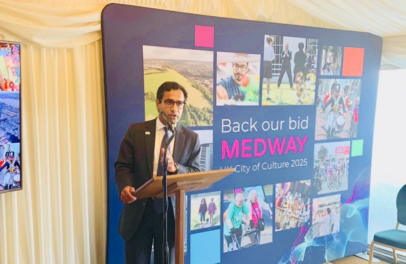 Rehman speaking at the City of Culture bid