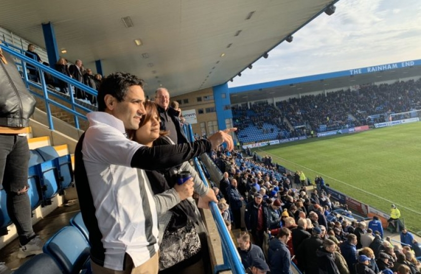 Rehman watching football at Priestfield