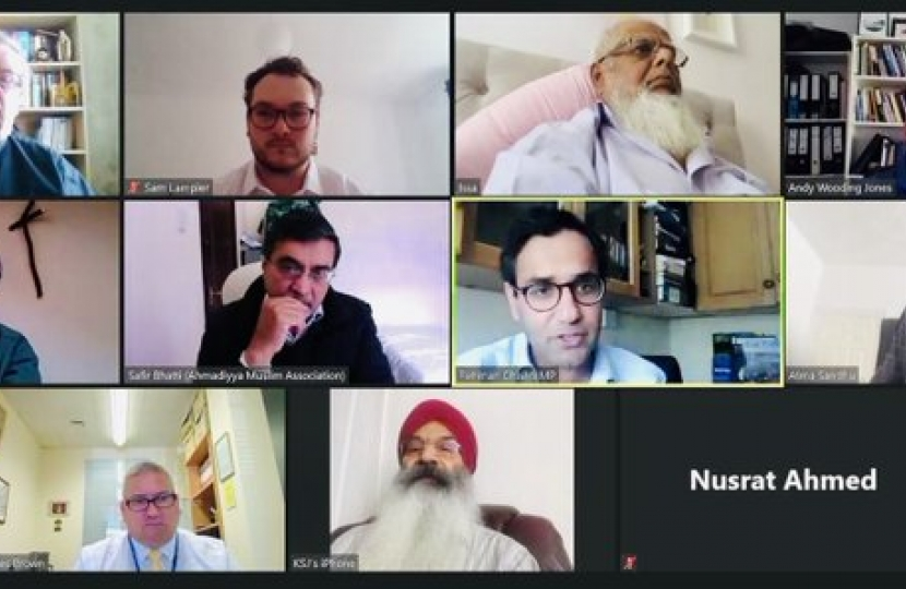 Screenshot of call with local faith leaders