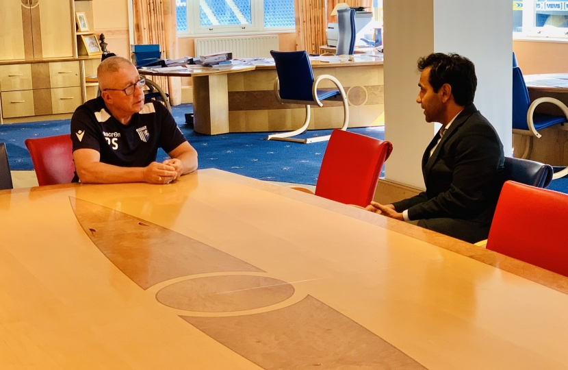 Rehman with Gills Chairman