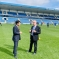 Rehman at Priestfield Stadium with Gills Chairman